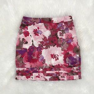 Ann Taylor LOFT-Pink Floral Skirt-EUC-Sz 2